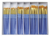 Royal Brush Scholastic Choice Gold Taklon Brush Set, Set of 72