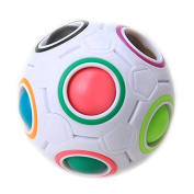 Creative spherical magic cube speed rainbow ball football puzzle baby kids education learning toy