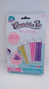 Chocolate Pen Refill Pouches -- Purple, Pink, White & Green