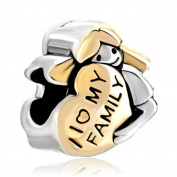 Pugster Heart Baby Girl I Love My Family Charm Sale Cheap Beads Fit Pandora Jewellery Charms Bracelet Gifts