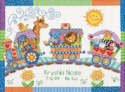 "Brand New Baby Hugs Baby Express Birth Record Counted Cross Stitch Kit-30cm ""X9"""" 14 Count Brand New"