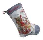 Bucilla 46cm Christmas Stocking Counted Cross Stitch Kit, 86660 Old World Santa