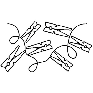 Quilting Creations Laundry Border Continuous Line Quilting Stencil, 17cm