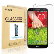 LG G2 Screen Protector, NOKEA [9H Hardness] [Crystal Clear] [Easy Bubble-Free Installation] [Scratch Resist] Tempered Glass Screen Protector for LG G2