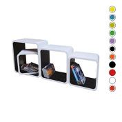 Retro Floating Shelves Bookcase Cube Shelving LO02