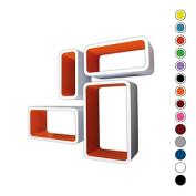 Retro Floating Shelves Bookcase Cube Shelving LO01