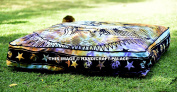 """""""Handicraftspalace"""" Square Floor Pillow Large Ottoman Pouffe Cover Hippie Indian Seating Daybed Throw Sofa Cushion Cover Outdoor Tie Dye Dog Bed 90cm X 90cm"""