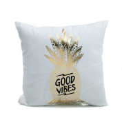 Xinhuaya Bronzing Flannelette Home Pillowcases Throw Pillow Cover lips Love puzzles olive pineapple pattern design