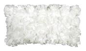 R & M Industries dba Edie 2990D Baby Cabbage Decorative Toss Pillow,Cream,Medium