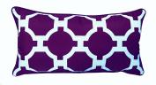 R & M Industries dba Edie 2954D Garden Links Decorative Indoor / Outdoor Toss Pillow,Purple,Medium