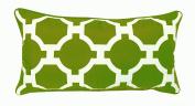 R & M Industries dba Edie 2954D Garden Links Decorative Indoor / Outdoor Toss Pillow,Leaf,Medium