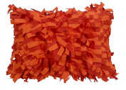 R & M Industries dba Edie 2953D Palmera Laser Decorative Indoor / Outdoor Toss Pillow,Pumpkin,Medium