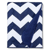 New New Valboa Baby Blanket Navy Chevron