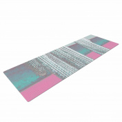 "KESS InHouse Yoga Mat Suzanne Carter ""Cactus-Pink"" Pink Multicolor Digital Yoga Mat, 180cm x 60cm"