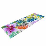 "KESS InHouse Yoga Mat Mmartabc ""Exotic Pattern"" Multicolor black Illustration Yoga Mat, 180cm x 60cm"