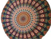 XUANOU Ethnic Style Round Beach Mat Towel Table Cloth Yoga Mat