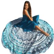 XUANOU Beach Cover Bikini Boho Summer Geometric Printing Round Yoga Mat Outdoor