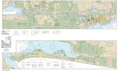 Synthetic Media NOAA Chart 11331: Intracoastal Waterway Ellender to Galveston Bay