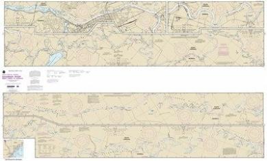 Synthetic Media NOAA Chart 11515: Savannah River Brier Creek to Augusta