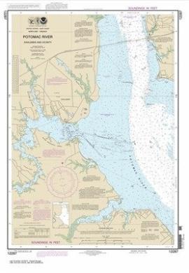 Synthetic Media NOAA Chart 12287: Potomac River Dahlgren and Vicinity