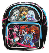 Monster High Entire Gang Portrait Black Coloured Small Size Backpack