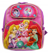 Disney Princesses With Matching Pets Small Size Kids Backpack