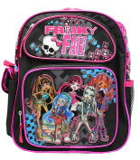 Monster High Freaky Fab Black and Hot Pink Small Size Kids Backpack
