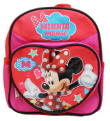 Disney's Minnie Mouse Heart Shaped Front Pocket Mini Size Backpack
