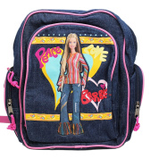 Peace and Love Hippie Barbie Faux Denim Small Size Kids Backpack