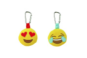 Kids Preferred Emoji Backpack Plush Clip - Heart Eye - Joy
