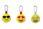 Kids Preferred Emoji Backpack Plush Clip - Glasses - Heart Eye - Joy