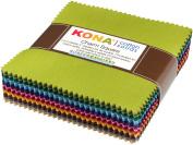 Kona Cotton Dusty 101 Palette Charm Square 101 13cm Squares Charm Pack Robert Kaufman CHS-563-101