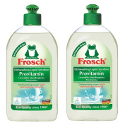 Frosch Natural Unscented Sensitive Provitamin Liquid Hand Dish Washing Soap, Free & Clear, 500 ml