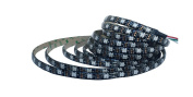 WS2812B RGB LED Strip Lights 60 LEDs/M 5050 SMD DC5V Waterproof IP65 Addressable Flexible Strip 5Metes/roll Pack of 1 Rolls