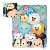Disney Tsum Tsum Micro Raschel Throw Blanket and Pillow Set
