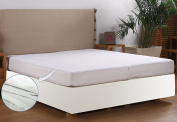 Premium Hypoallergenic Waterproof Mattress Protector - Vinyl Free - Fitted Mattress Cover (King) by Utopia Bedding