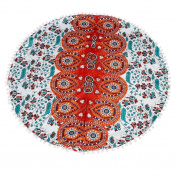 Paymenow Large Mandala Floor Soft Comfy Pillows Pretty Round Bohemian Meditation Cushion Cover Ottoman Pouffe