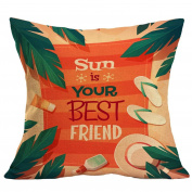 Leewa . Summer Beach Flax Sofa Bed Home Decoration Pillow Case