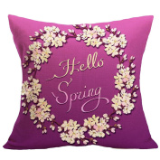 "Leewa . Spring"" Flax Sofa Bed Home Decoration Pillow Case"