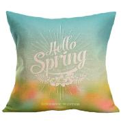 """Leewa Hot Sale! """"Spring"""" Flax Sofa Bed Home Decoration Pillow Case"""