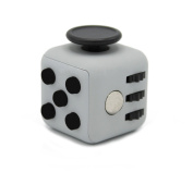 Ratoop Fidget Cube Relieves Stress and Anxiety Attention Toy for Work/Class/Home, Black/Grey