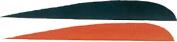 Trueflight 10cm Rw Feathers 6-Black 12-Orange