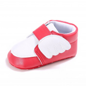 Baby Girls Wing Hook and loop PU Leather Sneakers Toddler Prewalker Shoes