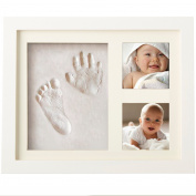Baby Handprint and Footprint Photo Frame kit | Baby Prints clay Photo Frame | Baby shower Keepsake | Frame babies registry Gift with safe acrylic glass photo | 100% GUARANTEE and  .