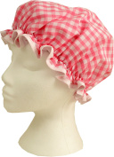 Vagabond Bags Gingham Shower Cap, Pink