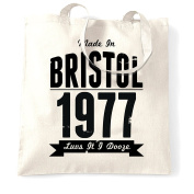Made In Bristol 1977 Bristol SS Great Britain Queen Square Zoo Blaise Castle Harbour Distressed Shopping Tote Bag Cool Funny Gift Present Bag