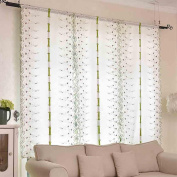 ZHANG-Yuan Tian Home decoration Lifting Roman blinds Living room Wear bars Lift curtain Shade cloth Embroidery pink / White , 200cmx80cm , white roses
