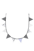 BB & Co Cotton Bunting Garland Black/White/Grey