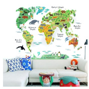 World Map Wall Decal Baby Buy Online From Fishpondcomau - Kids world map wall decal