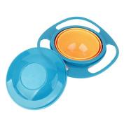 Non Spill Feeding Toddler Gyro Bowl 360 Rotating for Baby Avoid Food Spilling